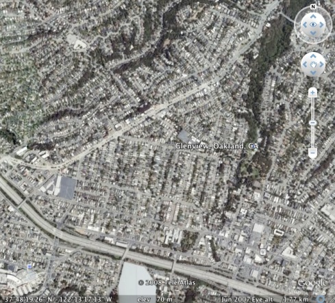 This is the Glenview district as seen by Google Earth.