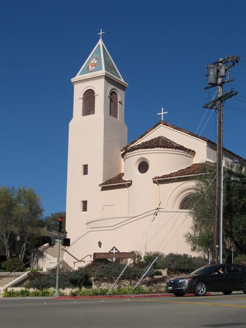 "this is the church where bishop cummins absolved me of sin. that was right before they painted it dark orange. we called it ""jesus and the giant peach"" until it faded to a warm adobe beige."