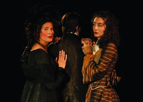 Candice M. Milan as Lady Susan, Gene Mocsy as Manwaring and Daria Hepps as Mrs. Vernon (image courtesy of Bella Union).
