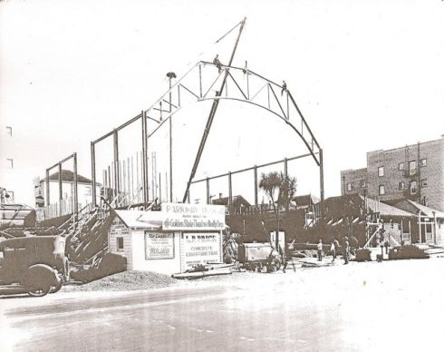 """Construction of Parkway Theatre,"" Vernon Sappers (ca. 1925)"