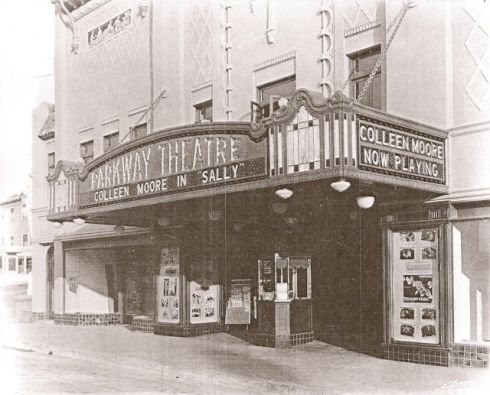 Parkway Theatre's initial storefront, Vernon Sappers Collection