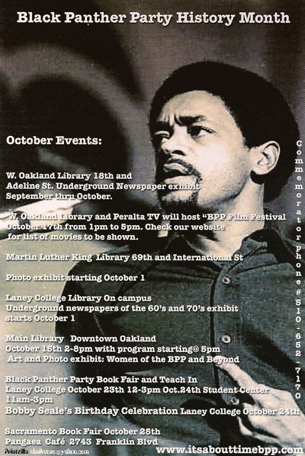 Pictured: Bobby Seale, Co-Founder of the Black Panther Party